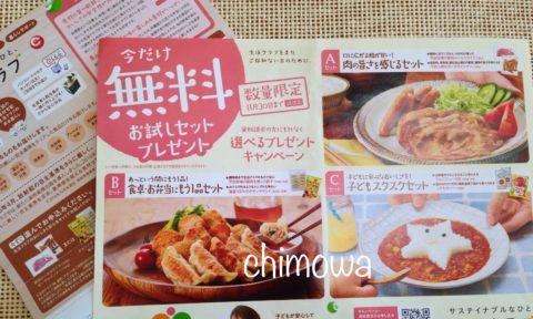 生活クラブ神奈川 資料請求で無料お試しセットプレゼントのチラシの写真