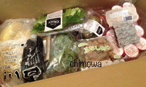 オイシックスから届いた食材の写真(画像)