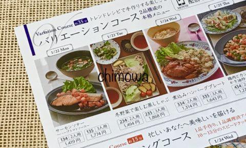 食材宅配サービスヨシケイのカタログラビュよりバリエーションコースの写真(画像)