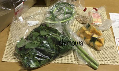 野菜(ベビーリーフ、万能ネギ、アスパラガス、カットかぼちゃ)、ナッツ、マヨネーズの写真