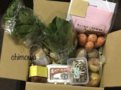 フィールド・コープのお試しセットで届いた野菜7品(小カブ、じゃがいも、ひらたけ、新玉ねぎ、新人参、ミニトマト、ほうれん草)、さくら卵、アイガモ玄米の写真