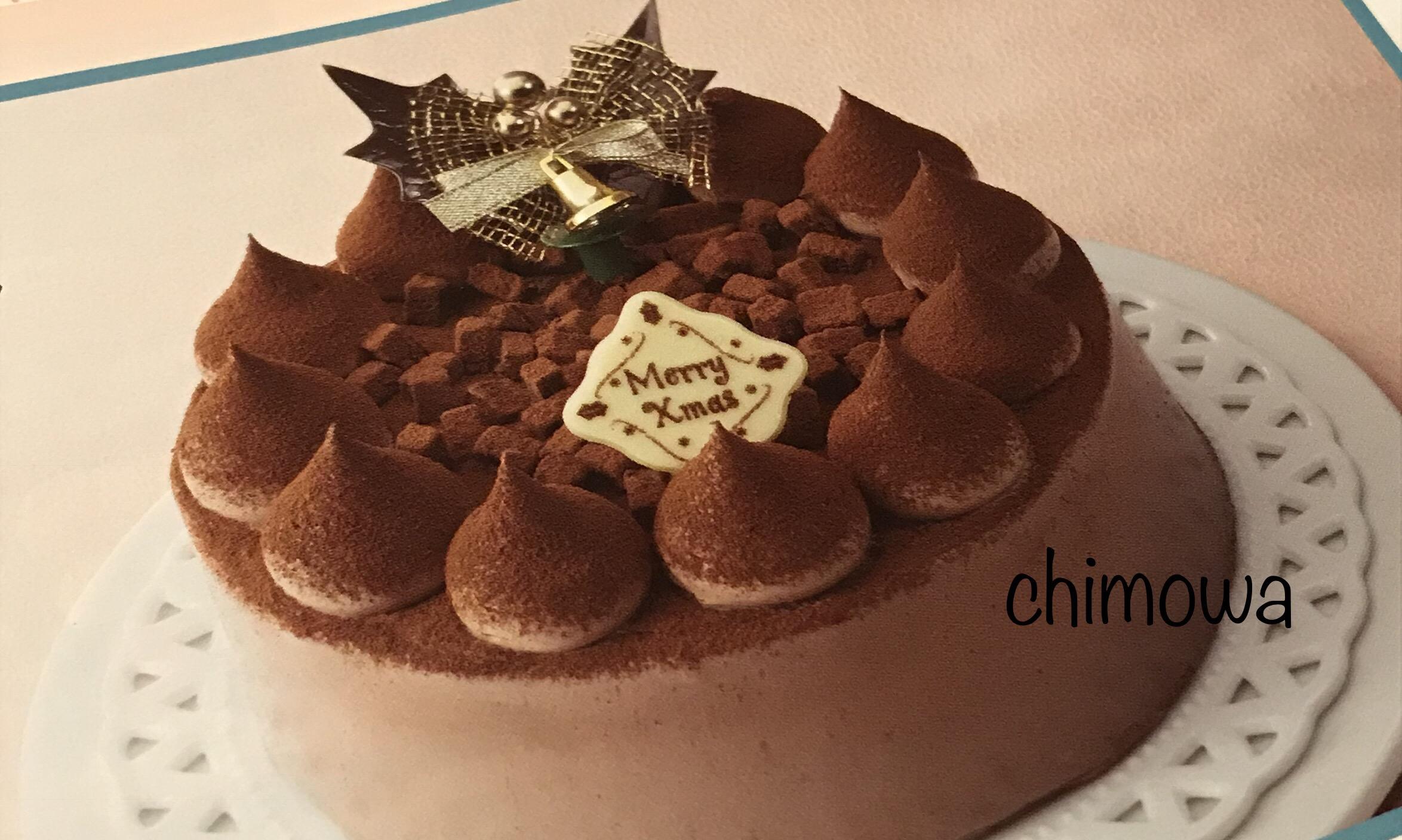 ダイエークリスマスカタログよりオリジナルケーキ ガトーショコラのページの写真
