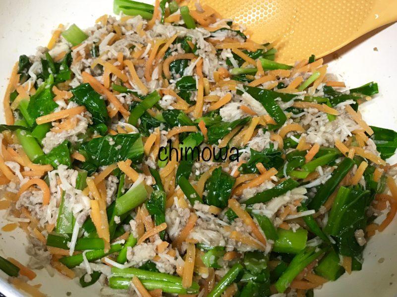 イセタンドア ミールキット 炒め終わった主菜の写真
