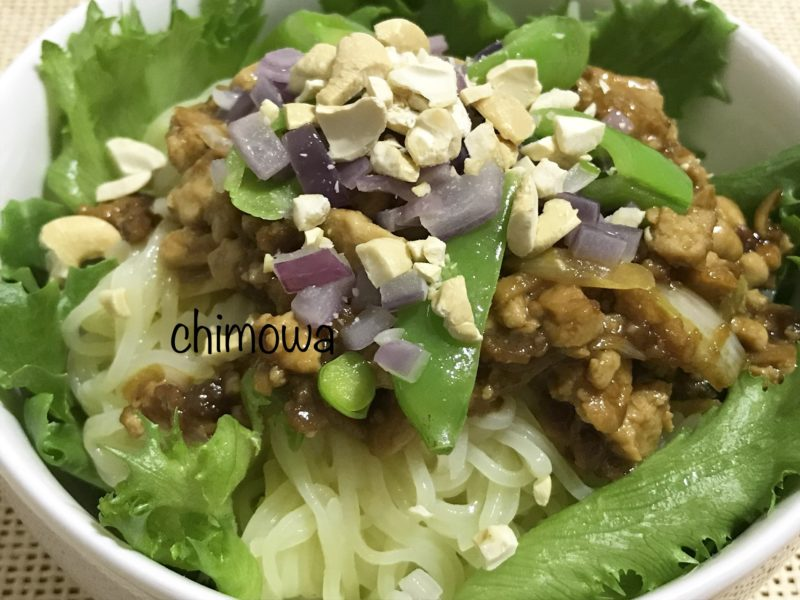 オイシックスヴィーガンミールキットジャージャー麺完成品の写真